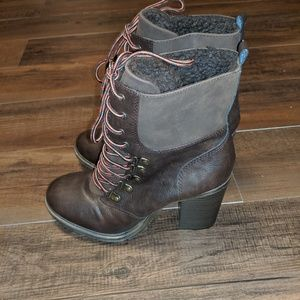 Unionbay Chunky Heel Lace-up Boot